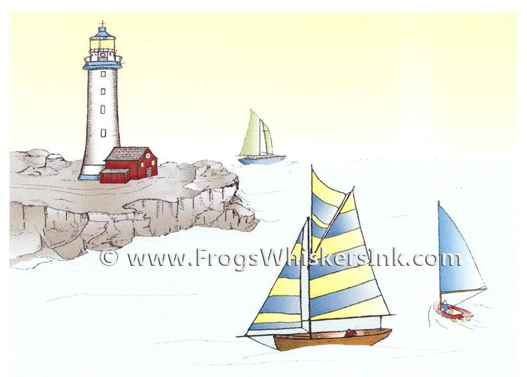 Frog's Whiskers Ink Stamps - Summer Sailing