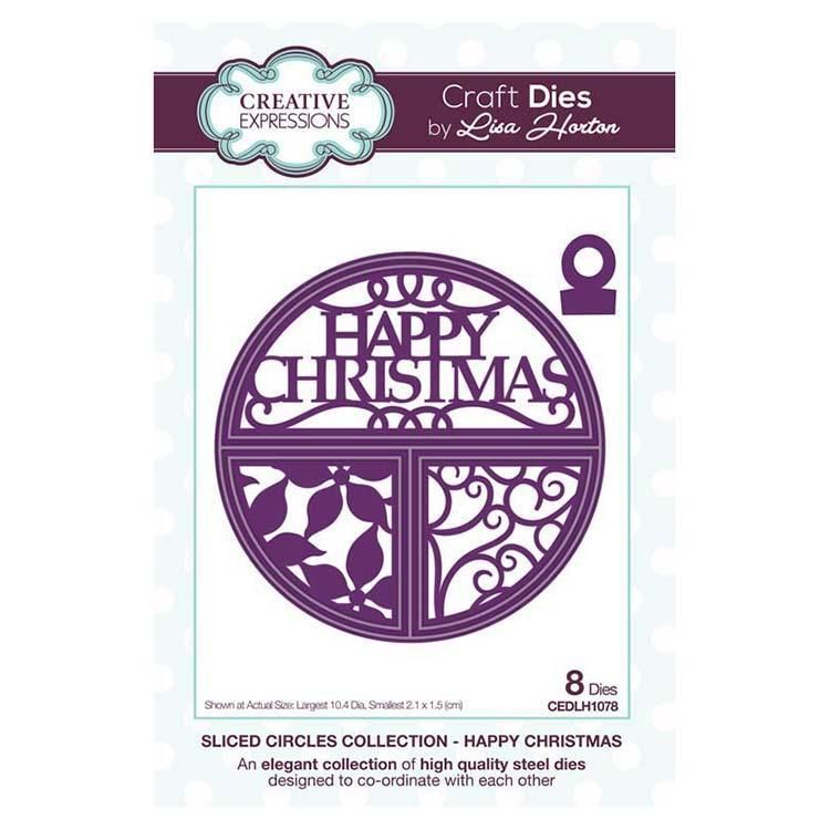 Creative Expressions Split Circles Happy Christmas Craft Die