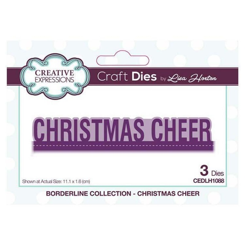 Creative Expressions Borderline Christmas Cheer Craft Die