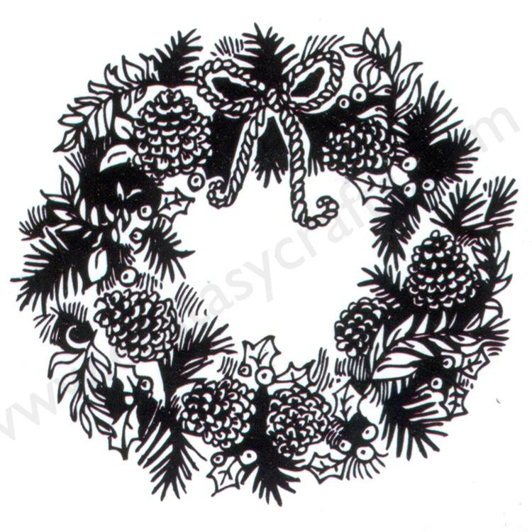 """Clear Stamps Christmas-Time Serie """"Wreath"""""""