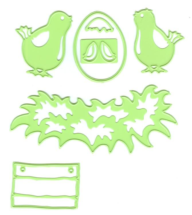 Lea'bilities Embossing And Cutting Die - Young Birds