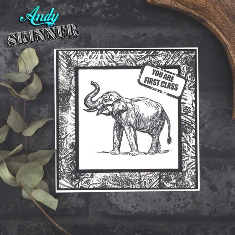Pre Cut Rubber Stamp By Andy Skinner First Class