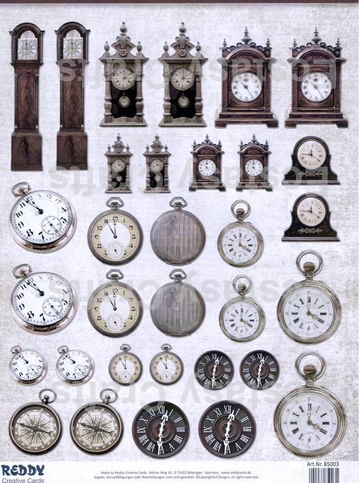 Pre Cut Sheets - Clocks , And Watches