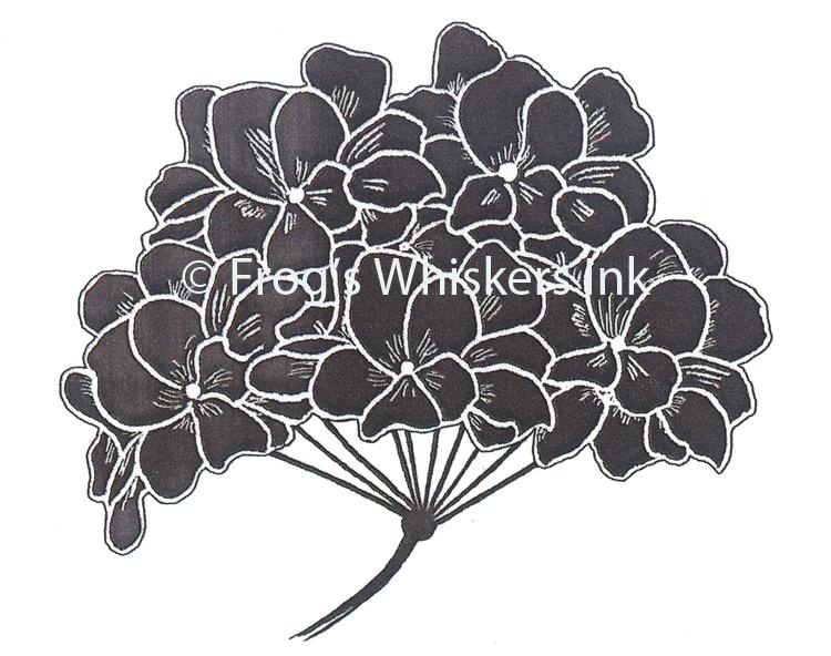 Frog's Whiskers Stamps - Hyrdangea Flower Solid