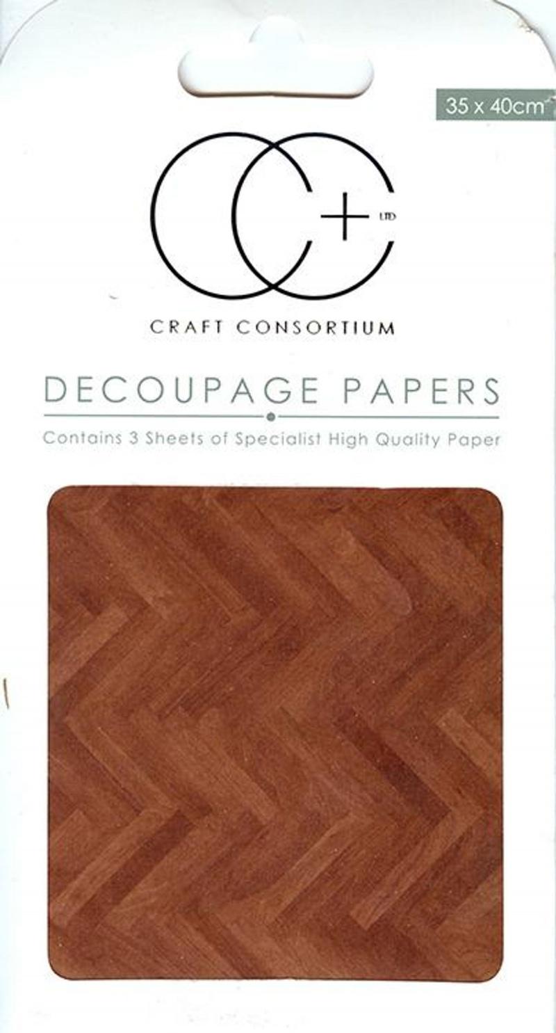 Parquet Floor Decoupage Paper