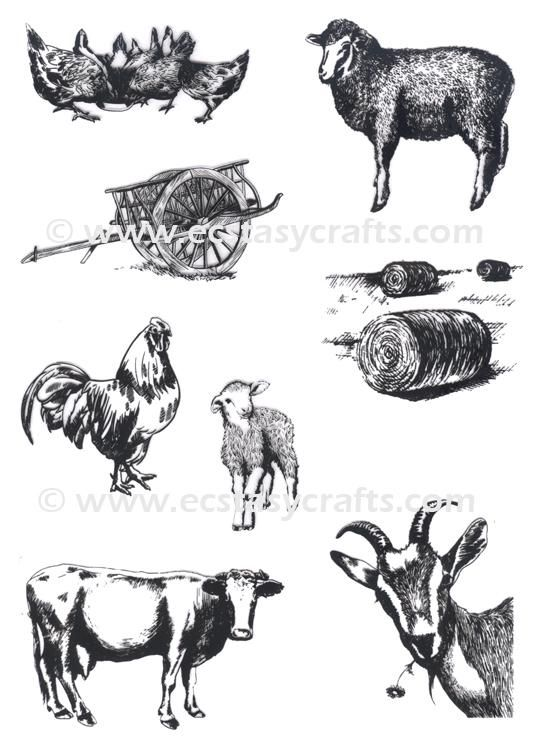 Joy! Crafts Clear Stamp Farm Animals