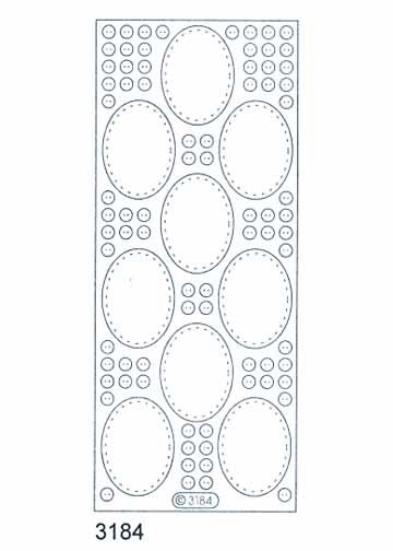 Deco Stickers - Small Oval