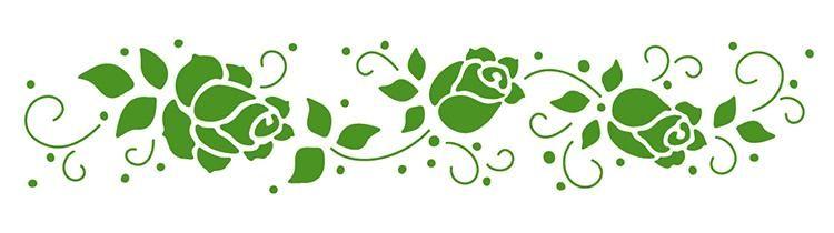 Lea'bilities Border Embossing Folder - Roses