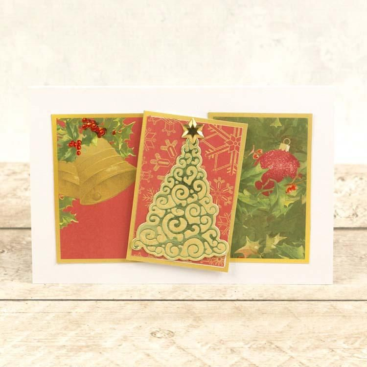 Couture Creations Curling Christmas Tree Cut, Foil And Emboss Die