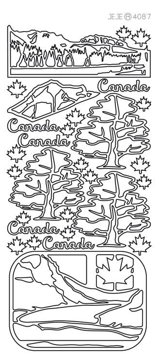 Peel-off Stickers - Canada Nature