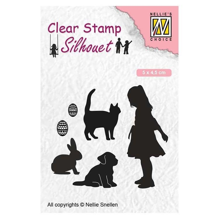 Nellie's Choice Clear Stamps Silhouette Animal Lover