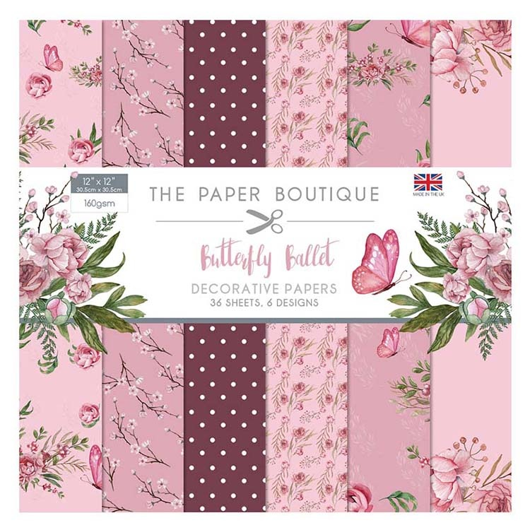 The Paper Boutique Butterfly Ballet 12x12 Paper Pad