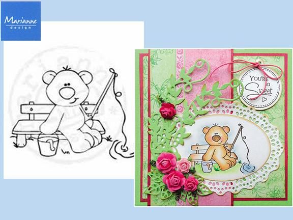 Stampfairy Cling Stamp - Fishing