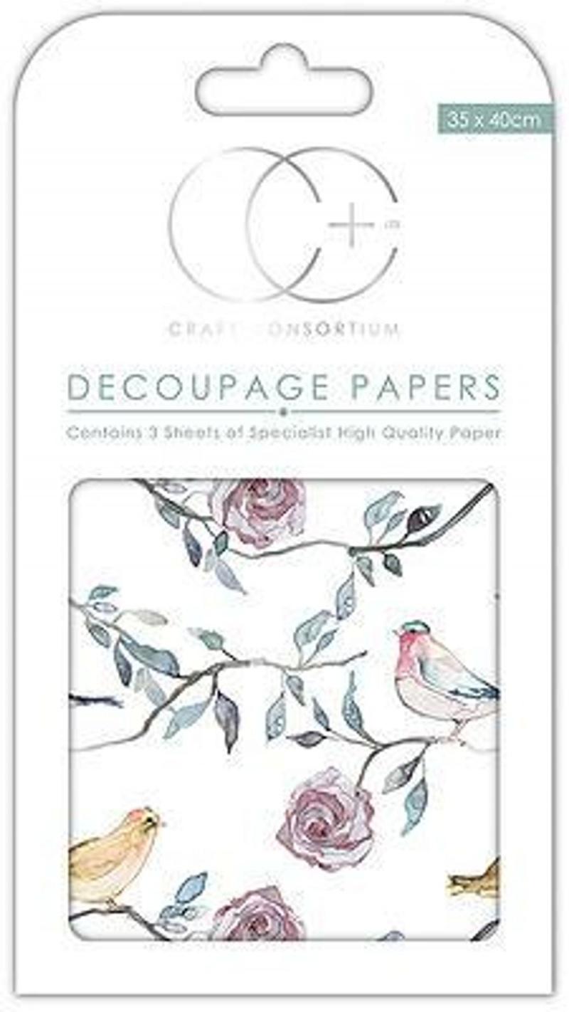 Bird Tree Tops Decoupage Papers