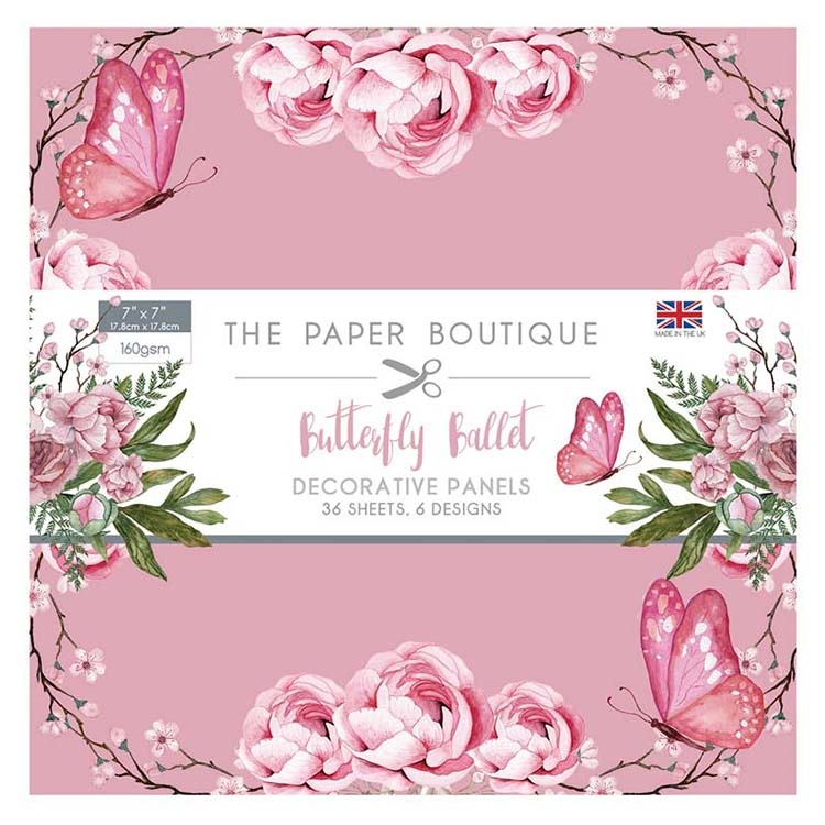 The Paper Boutique Butterfly Ballet 7x7 Panel Pad