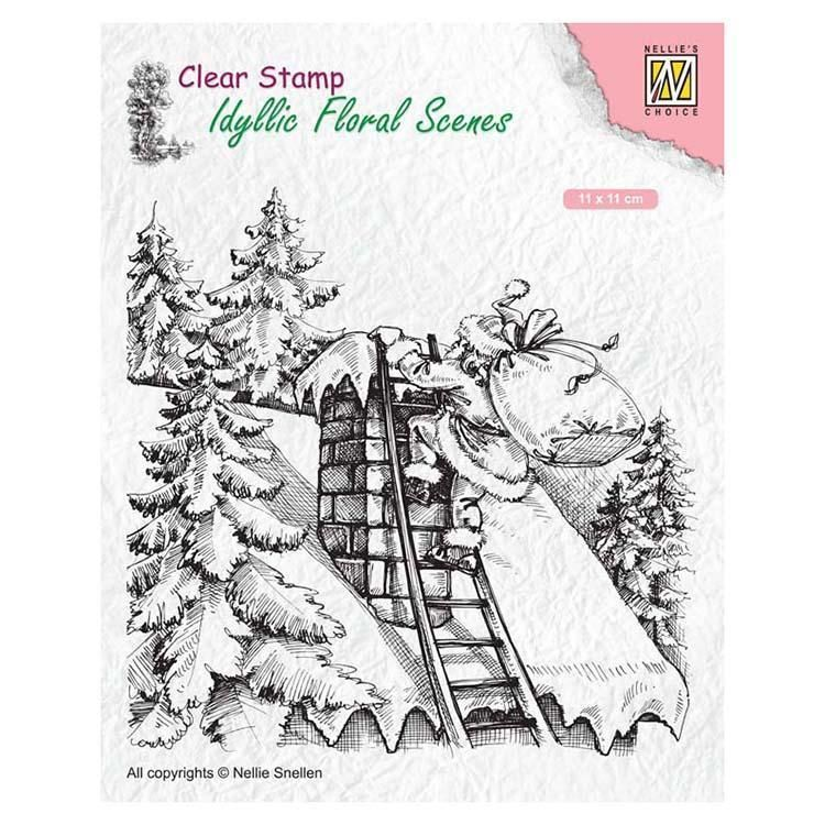Nellie's Choice Clear Stamp Santa Claus At Work