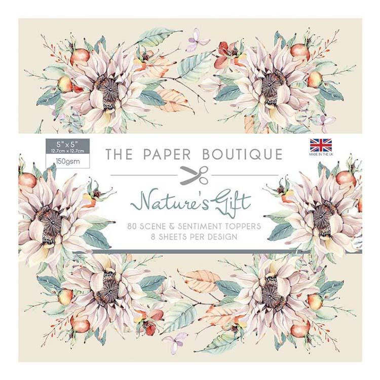 The Paper Boutique Nature's Gift Sentiments Pad 5x5 Scene & Sentiments Topped Pad 160gsm
