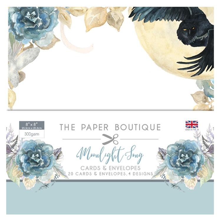 The Paper Boutique Moonlight Song 8x8 Card & Envelope Pack