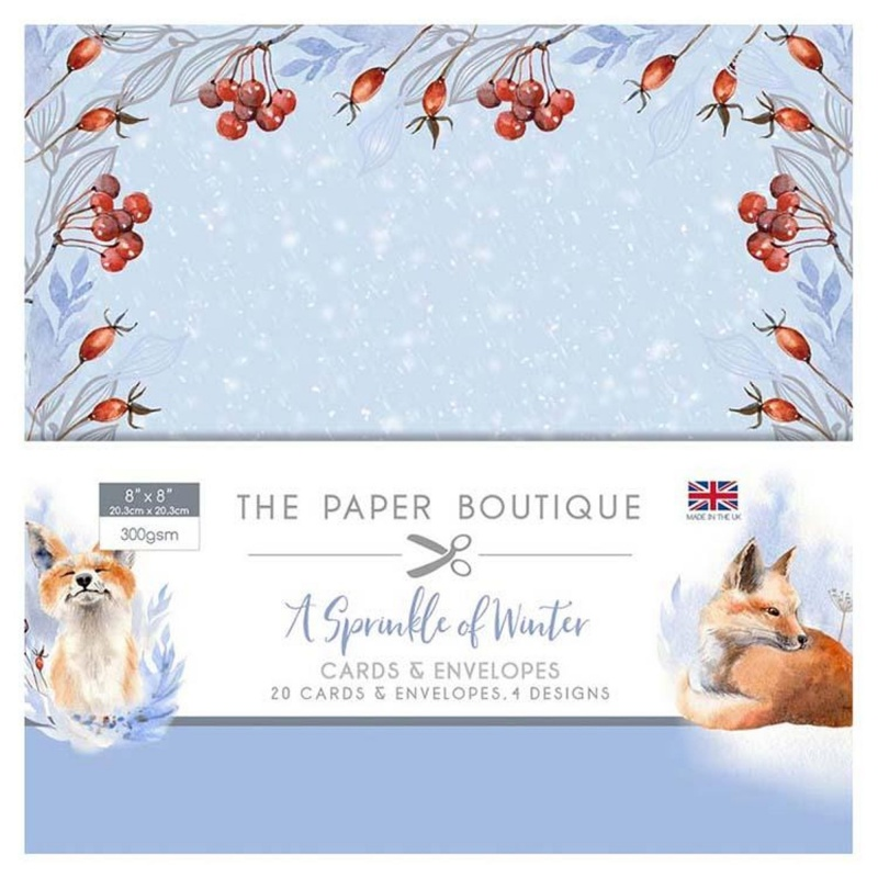 The Paper Boutique A Sprinkle Of Winter 8X8 Card & Envelope Pack