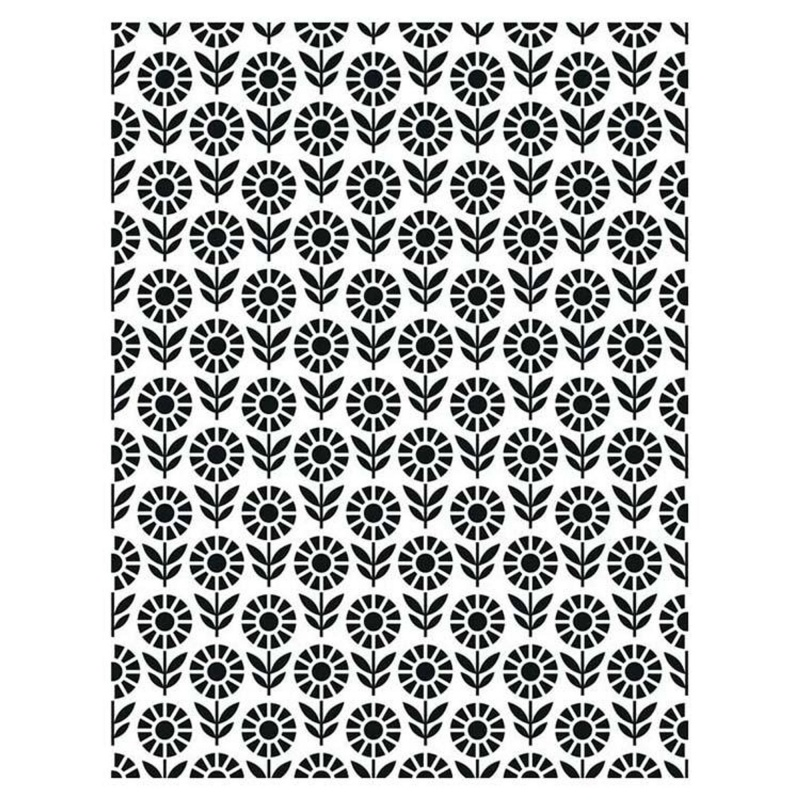 Creative Expressions Embossing Folder 5 3/4 X 7 1/2 Field Of Flowers