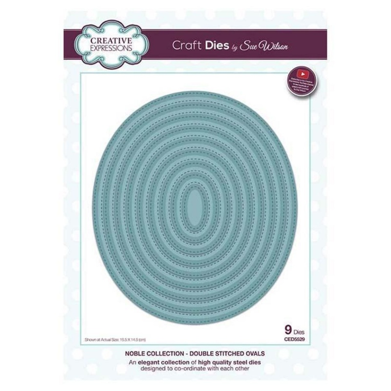 Dies By Sue Wilson Noble Collection Double Stitched Oval