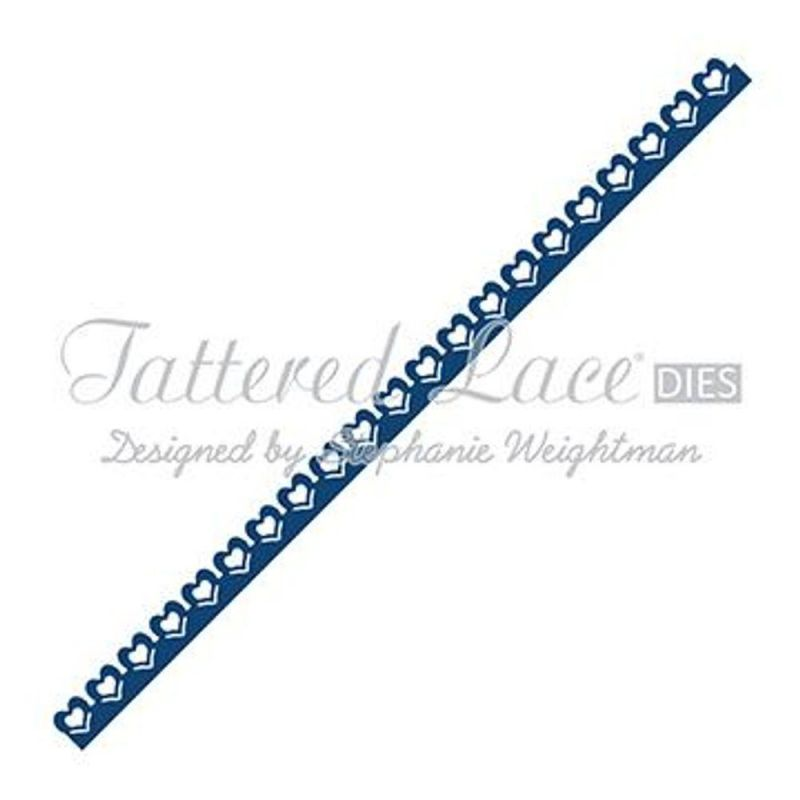 Tattered Lace Die - Delicate Heart Border