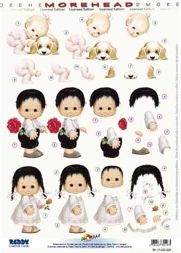 3d Precut Morehead Baby With Puppy