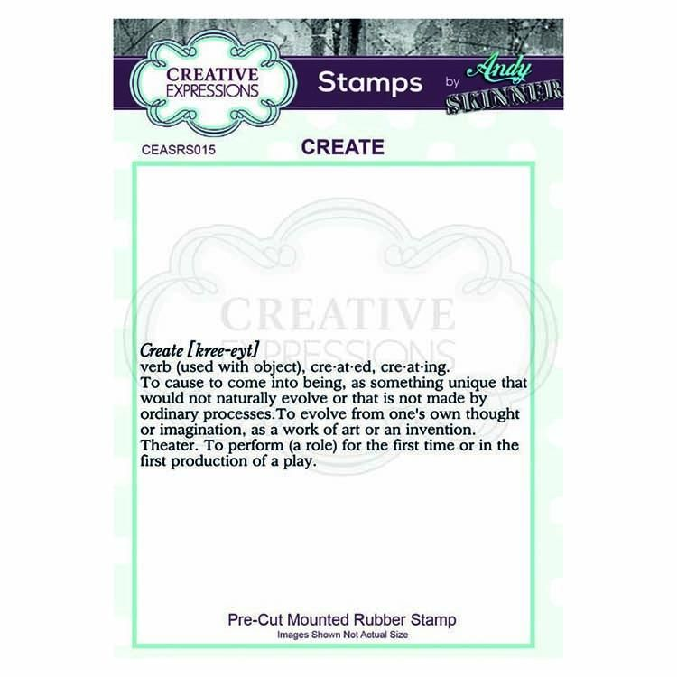Creative Expressions Pre Cut Rubber Stamp By Andy Skinner Create