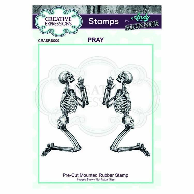 Creative Expressions Pre Cut Rubber Stamp By Andy Skinner Pray