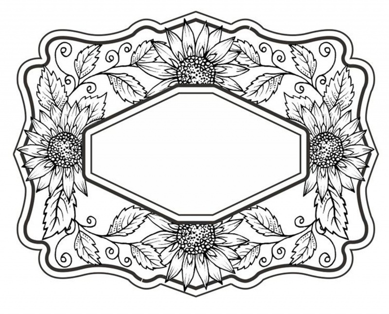 Sue Wilson Cling Stamps - Sweet Sunflowers