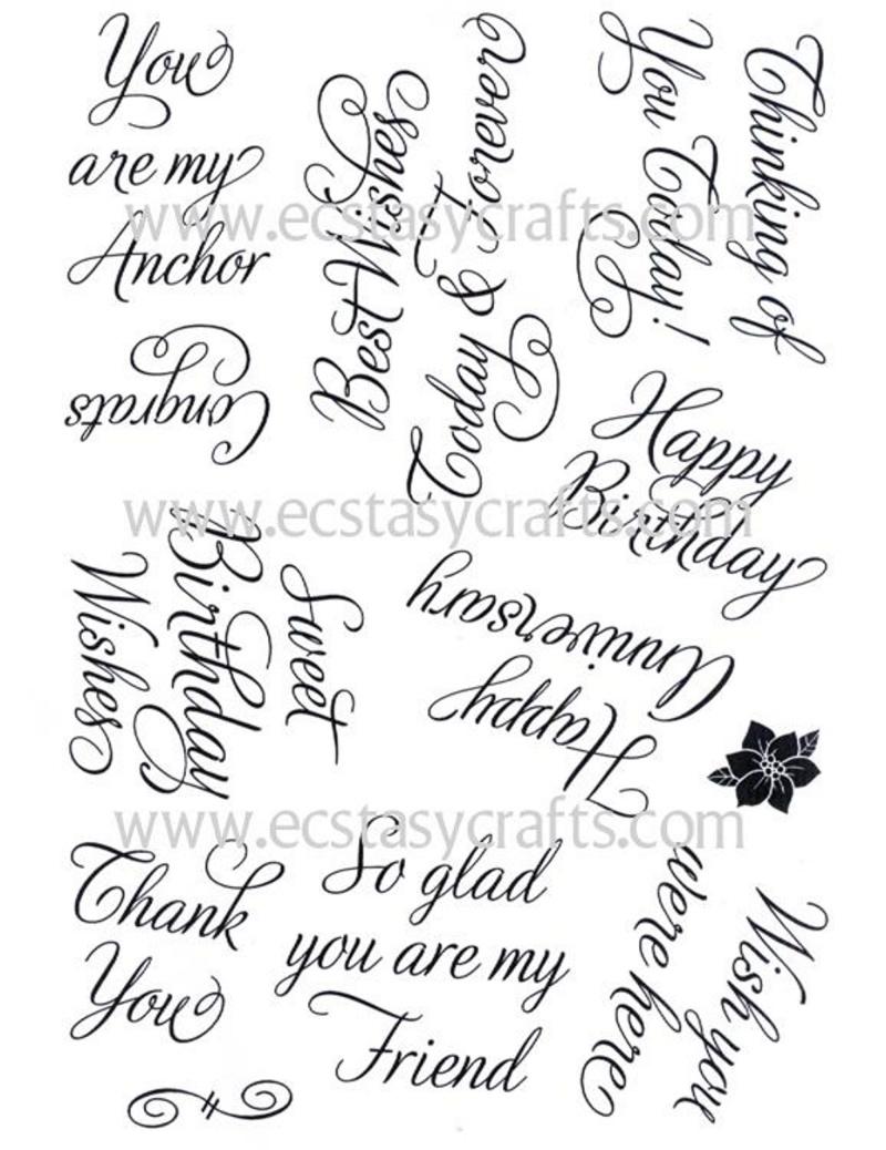 Elegant Sentiments Stamp Set