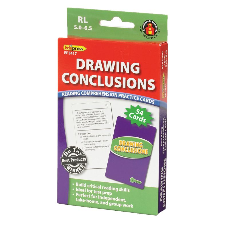 Drawing Conclusions Cards Reading Levels 5.0-6.5
