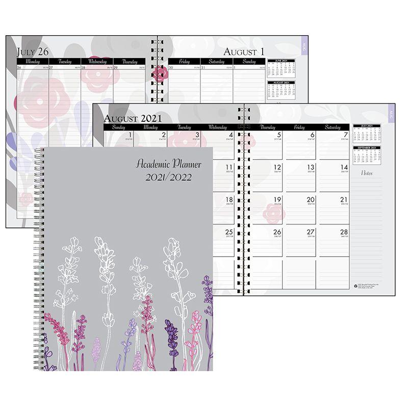 Month/week Planner Wild Flowers Academic Jul-aug