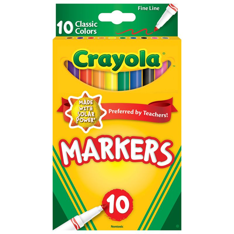 10ct Fine Line Colormax Markers Classic