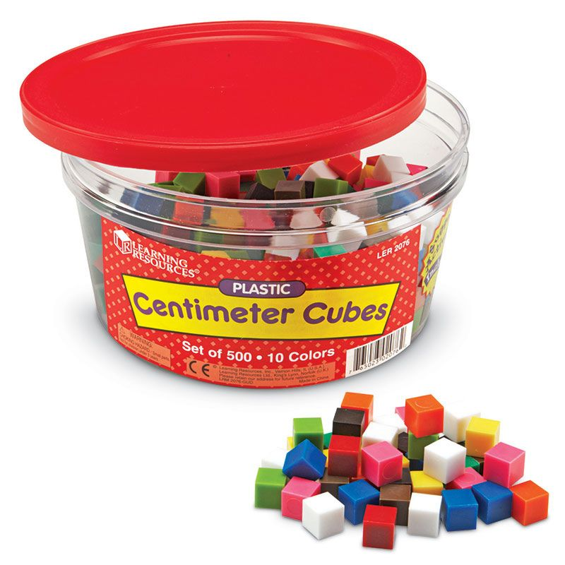 Centimeter Cubes 500-Pk 10 Colors In Storage Tub