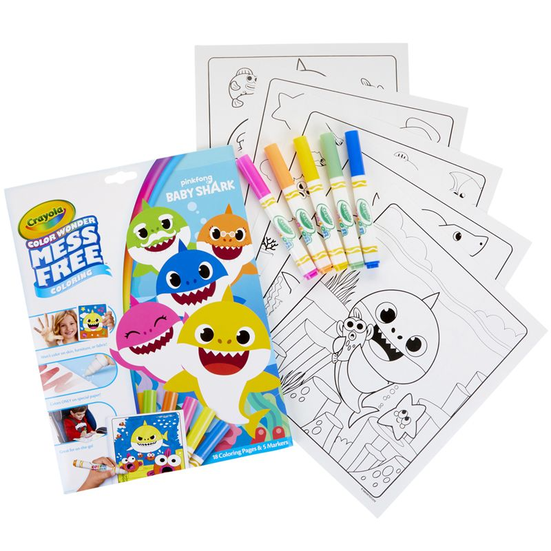 Coloring Pad & Markers Baby Shark Color Wonder