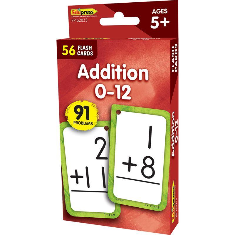 Additon 0-12 Flash Cards