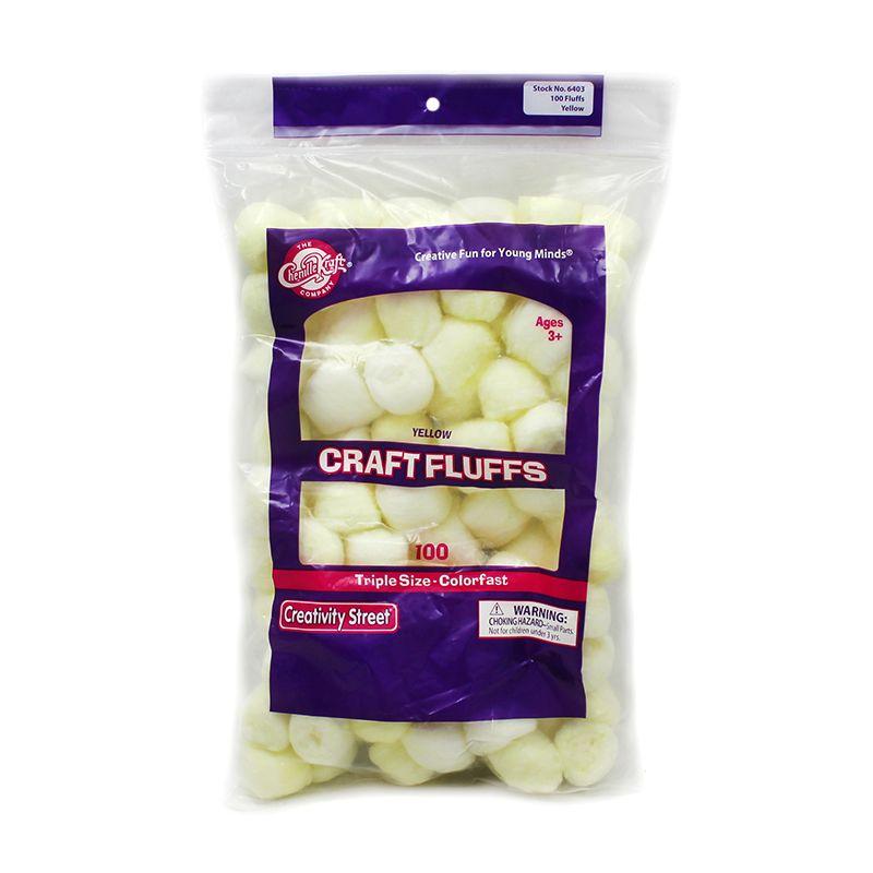 Craft Fluffs Yellow 100 Count