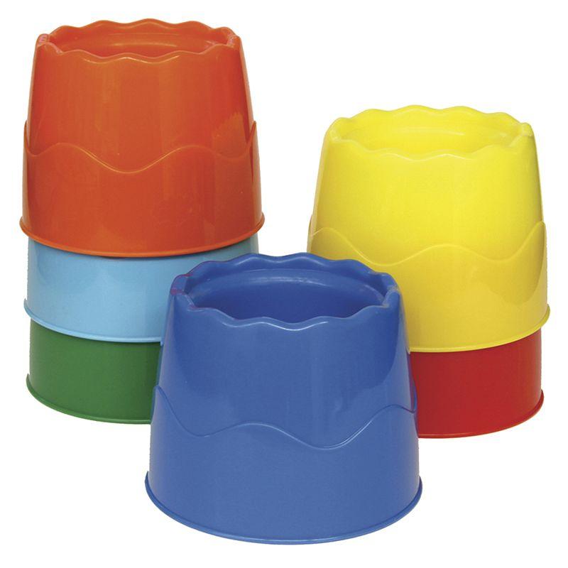 Stackable 6 Set Water Pots Asst Colors 4.5 X 3.5