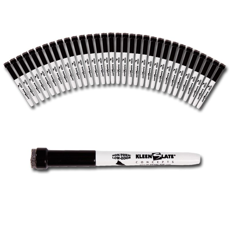 32pk Small Black Dry Erase Markers