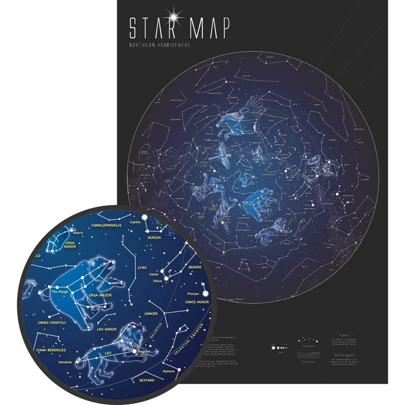 Glow In The Dark Star Map
