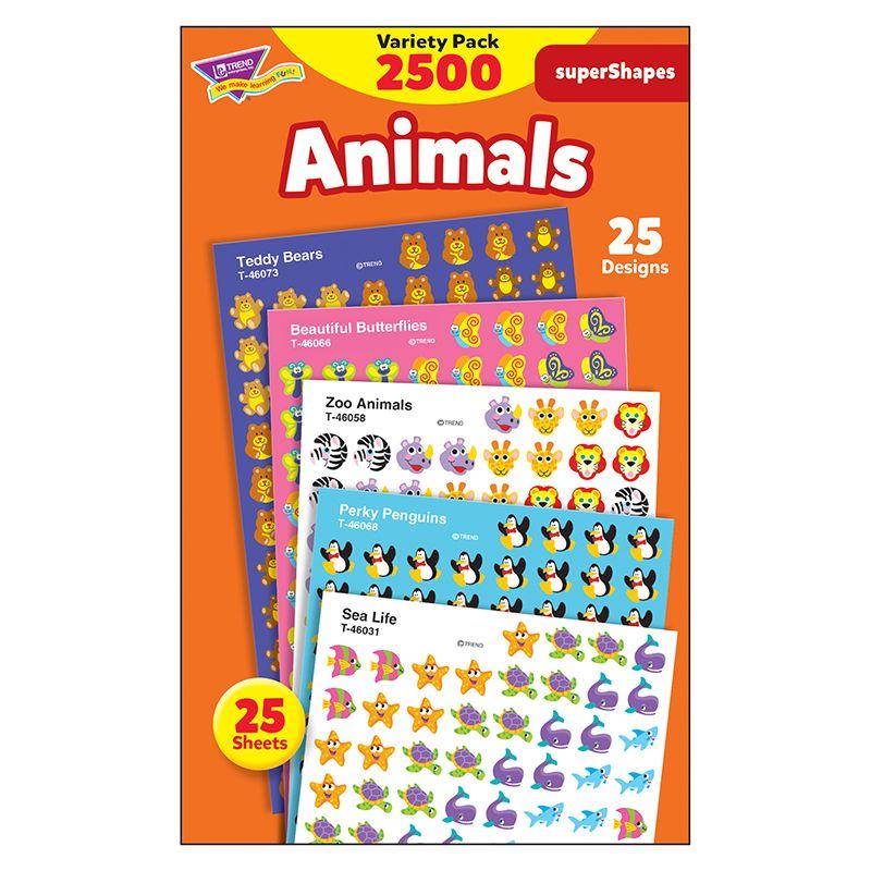Supershapes Variety Animals 2500Pk