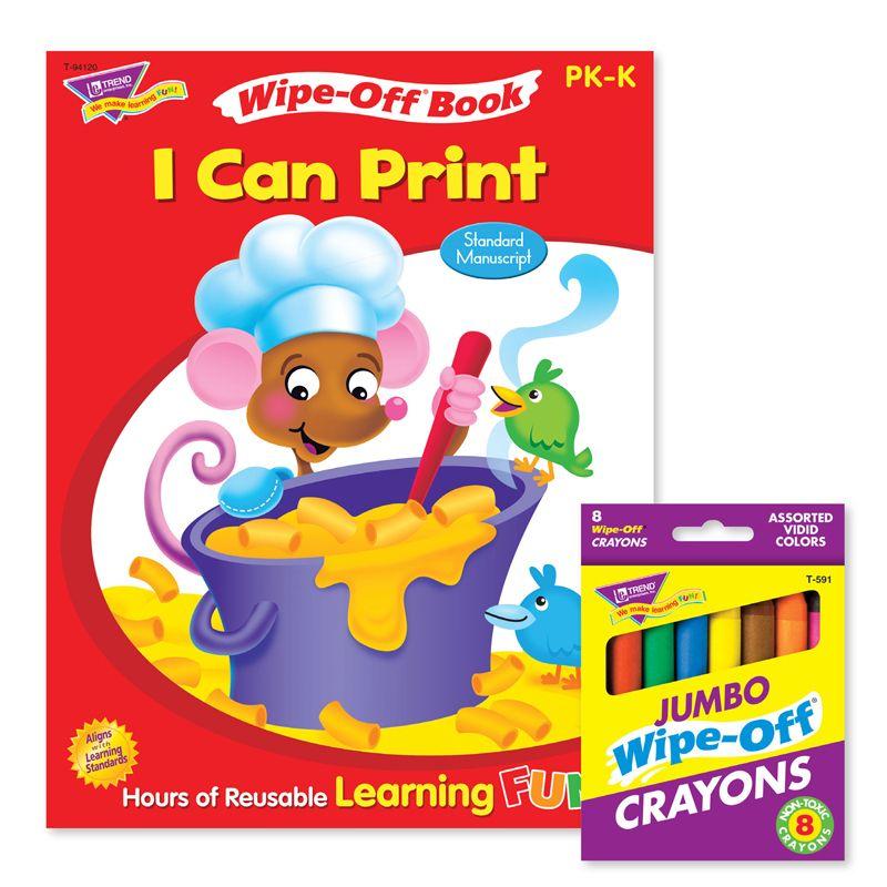 Printing Reusable Book & Crayons