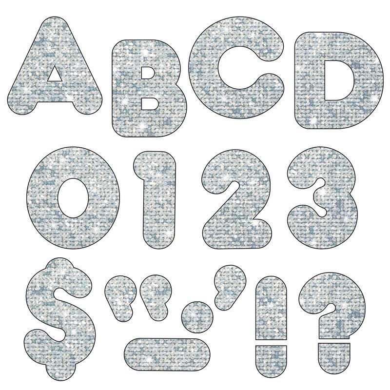 Ready Letters 4 Casual Silver Sparkle