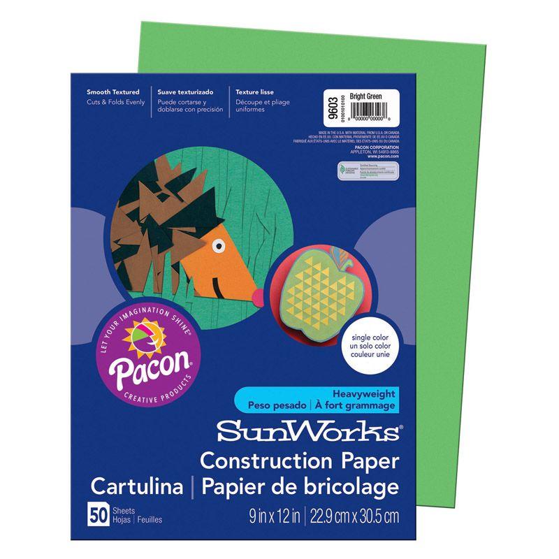 Sunworks 9X12 Bright Green 50Shts Construction Paper