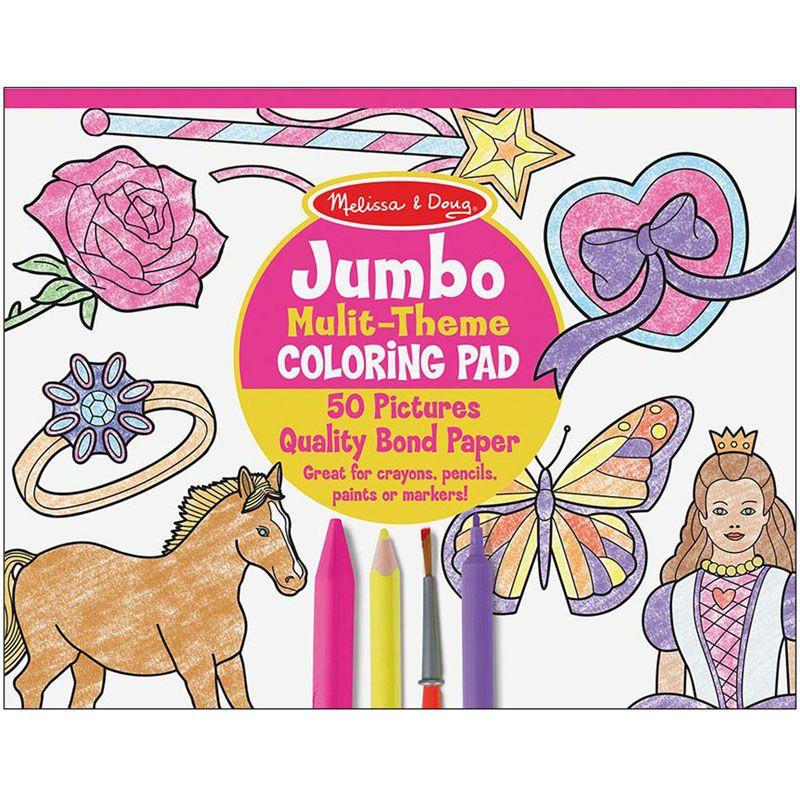 Jumbo Coloring Pad Pink 11 X 14