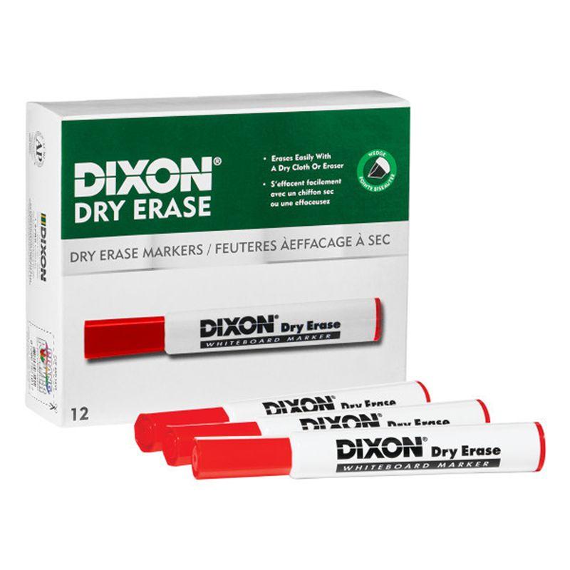 Dry Erase Markrs Wedge Tip Red 12pk