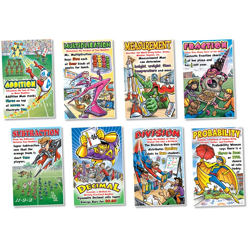 Math Superheroes Bulletin Board Set