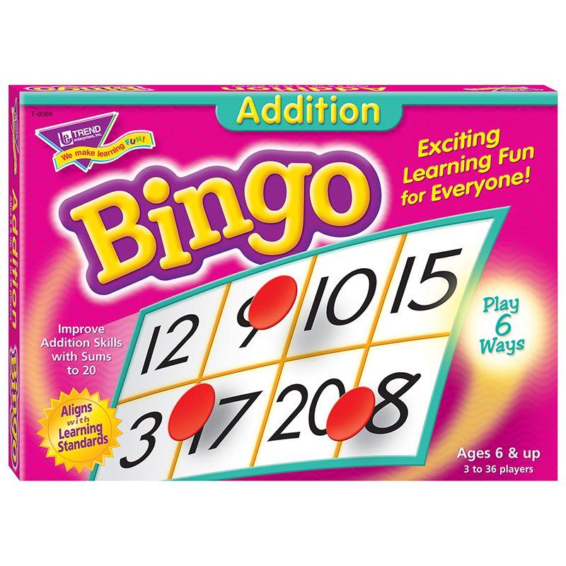 Bingo Addition Ages 6 & Up