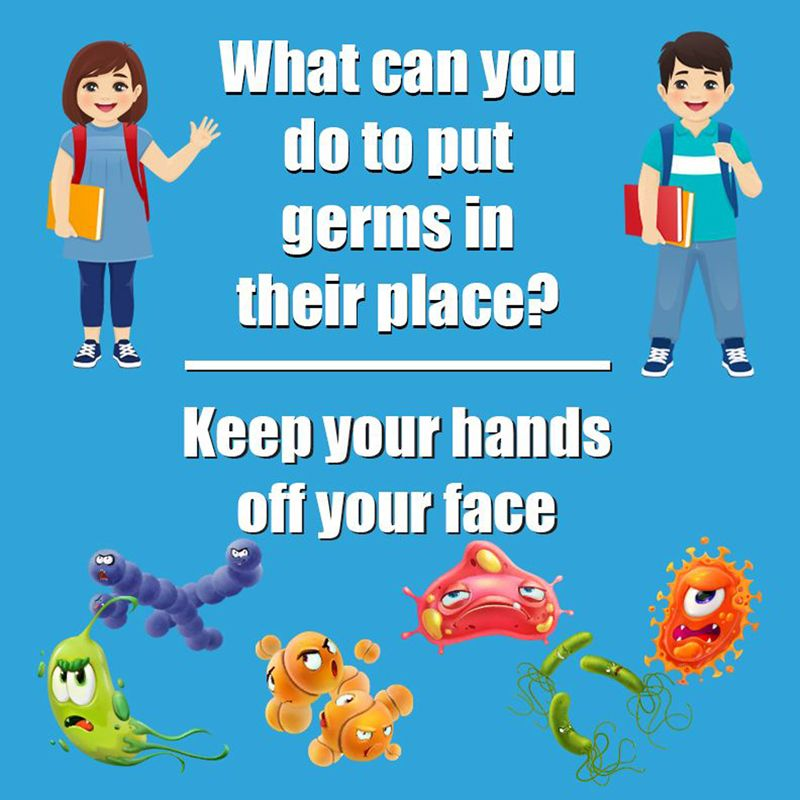 Keep Germs In Their Place Wall Stickers 5pk